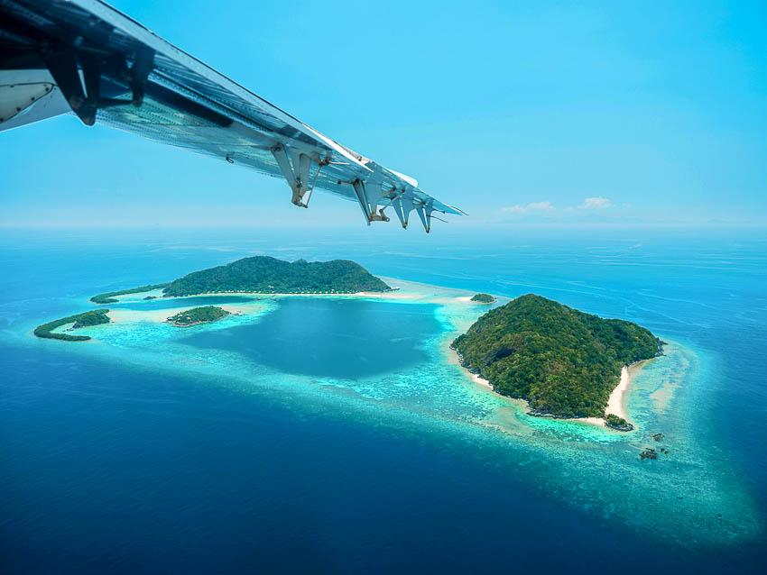 Bawah Reserve (Indonésie) - Vue aérienne © DR