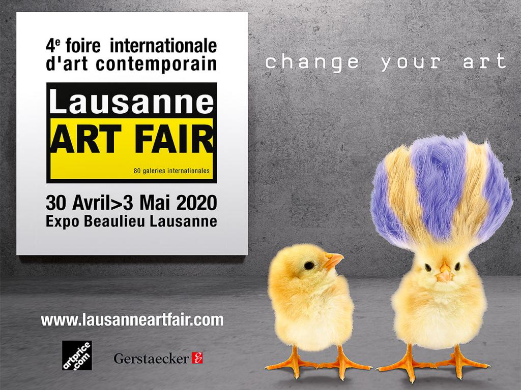 Lausanne Art Fair 2020 – Affiche © DR