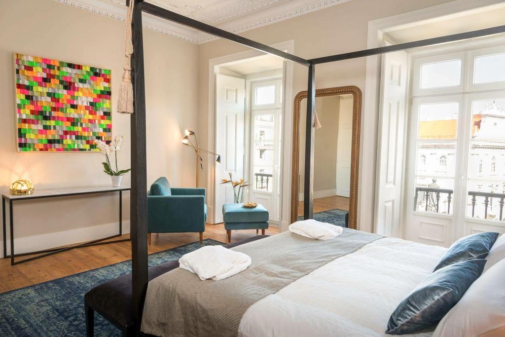 Hôtel Le Consulat à Lisbonne, chambre.
