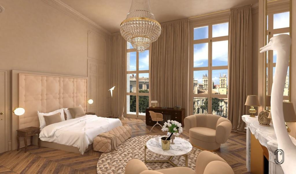 Hôtel Richer de Belleval Montpellier — chambre 8 © DR