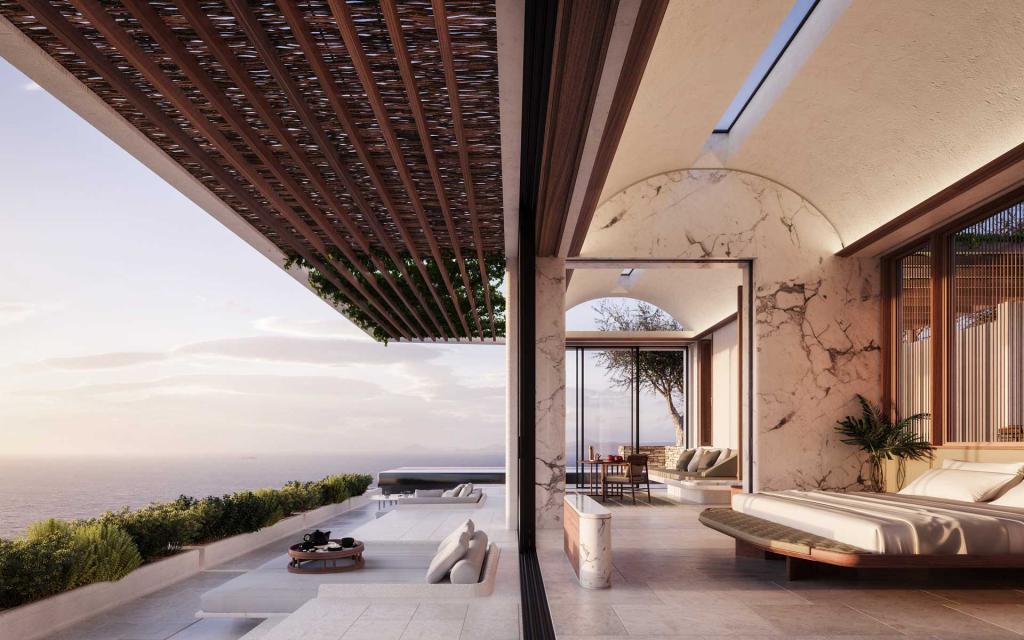One&Only Kea Island — villa privée avec terrasse © DR