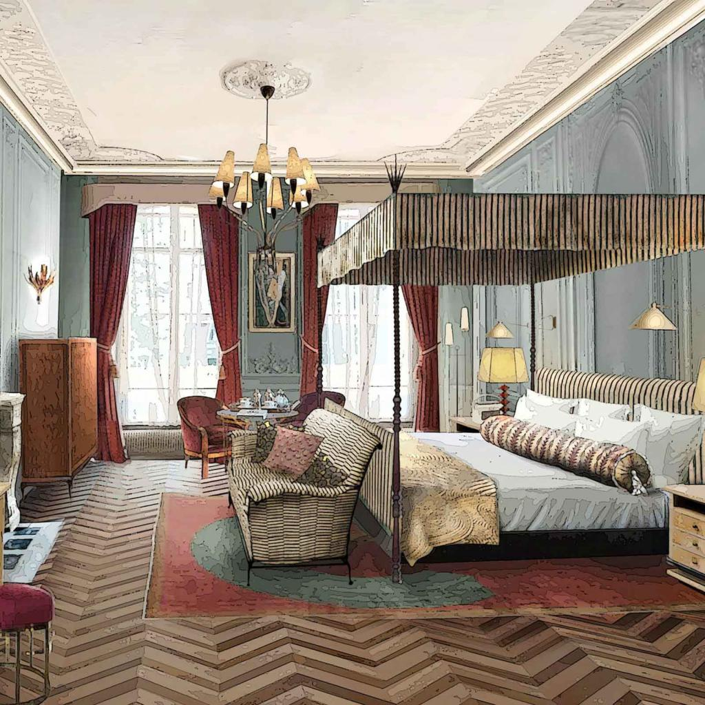 Soho House Paris — chambre 'medium' © Soho House