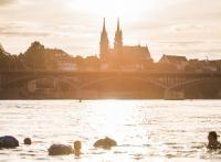 Été : quand les Bâlois se jettent à l'eau... dans le Rhin !