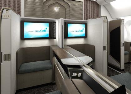 Oman Air : la toute nouvelle (et très luxueuse) « Mini Suite First Class » en images