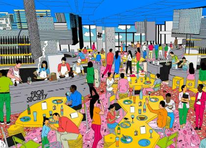 "Food Society Lyon, le 1er ""food court"" XXL signé Moma Group, ouvrira au printemps"