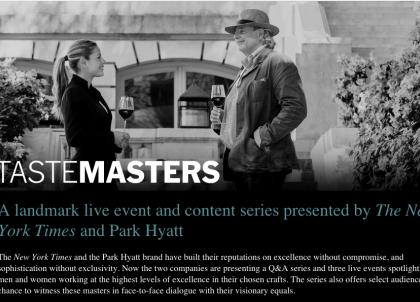 Les « TasteMasters », nouvelle collaboration exclusive entre le New York Times et les hôtels Park Hyatt