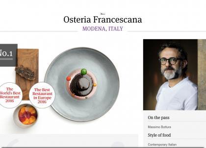 """La liste des 50 meilleurs restaurants du monde en 2016 dévoilée aux """"World's 50 Best"""""""