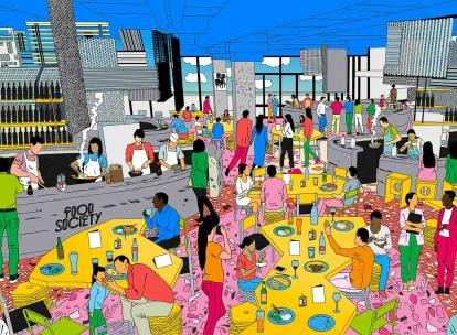 "Food Society Lyon, le 1er ""food court"" XXL signé Moma Group, ouvrira au printemps"