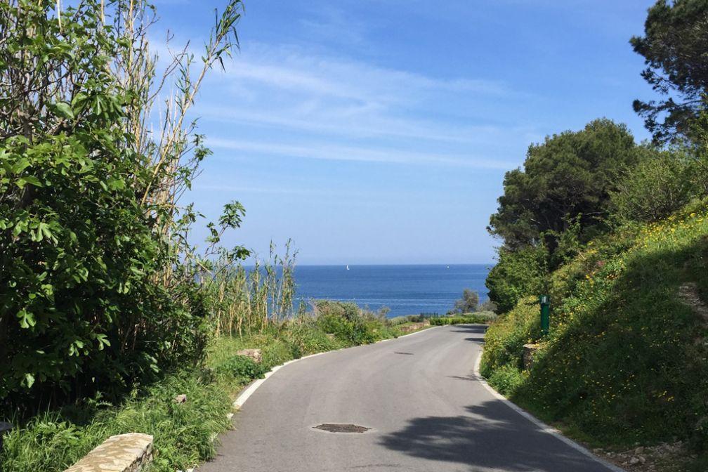 Derrière la citadelle, une petite route permet de rejoindre le sentier du littoral, superbe balade longeant la mer tout au long de la presqu'île de St-Tropez   © Yonder.fr