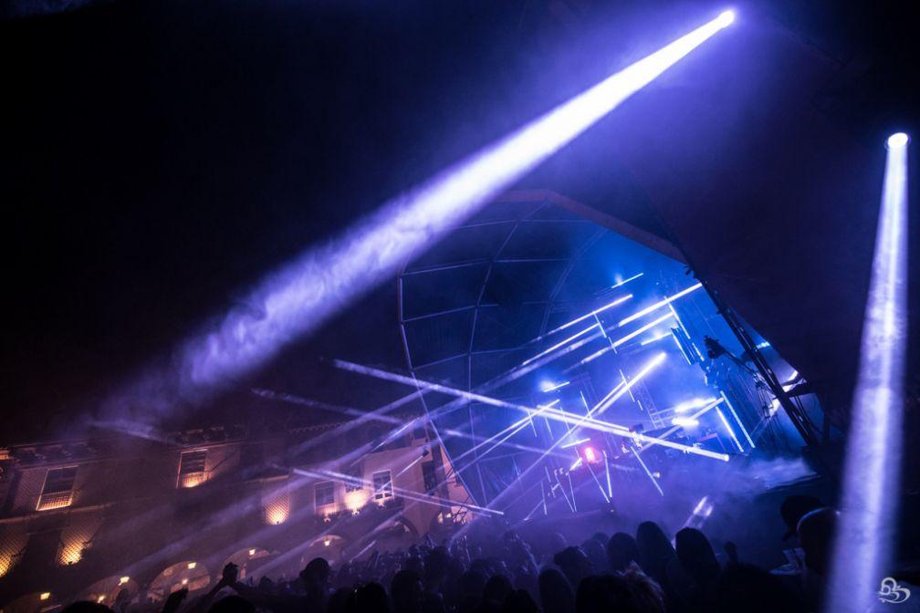 Lumières sur la Plaza Mayor pendant le festival IR BCN | © GBK.Photos