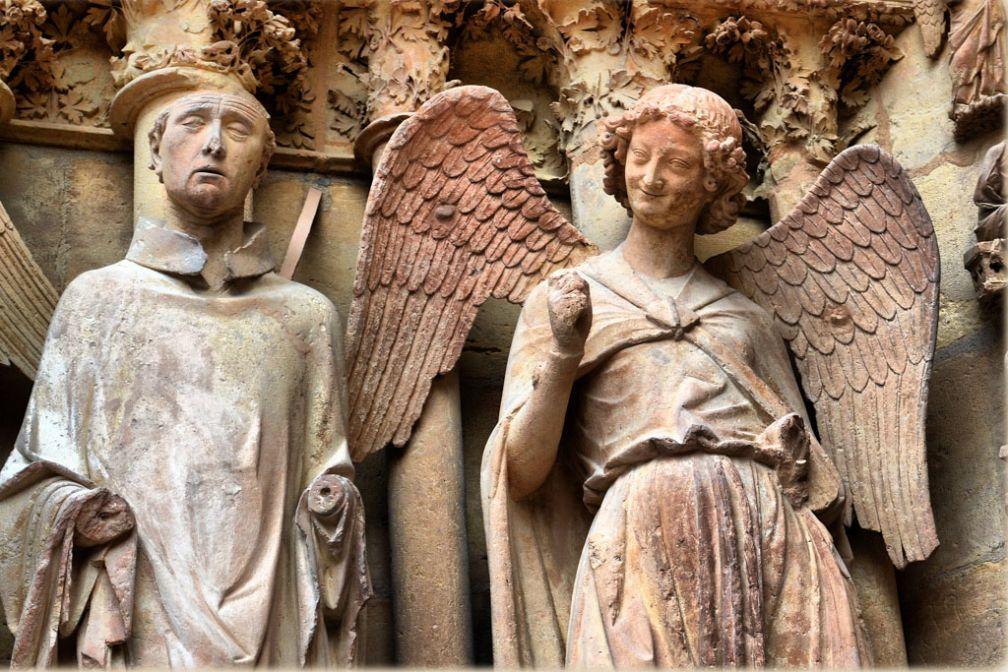 L'Ange au Sourire, statue mythique de la Cathédrale de Reims © CC ##jean-marc@@https://flic.kr/p/b3S57Z