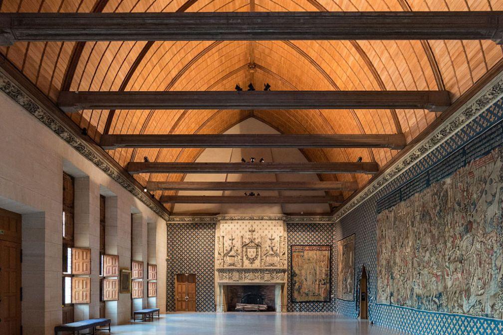 L'impressionnante Salle du Festin, au sein du Palais du Tau à Reims © CC ##DXR@@https://commons.wikimedia.org/wiki/File:Salle_du_Festin,_Palais_du_Tau,_Reims_20140306_3.jpg
