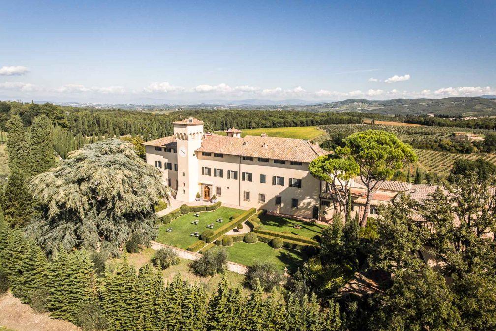 Le COMO Castello Del Nero, château historique, est situé dans la plus belle partie de la Toscane, entre Sienne et Florence © DR