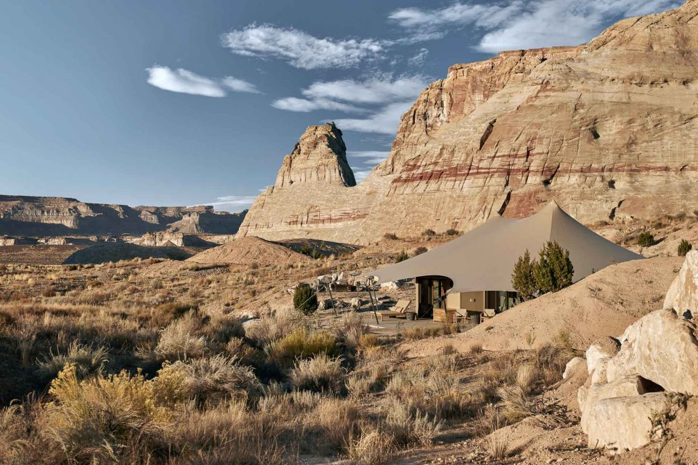Camp Sarika by Amangiri est entouré par 250 hectares de nature sauvage en plein cœur du désert de l'Utah © DR