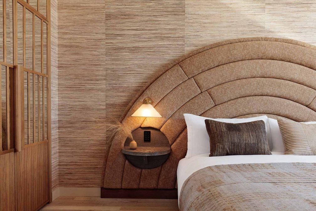 Jeu avec les textures dans les chambres du Santa Monica Proper Hotel. © DR