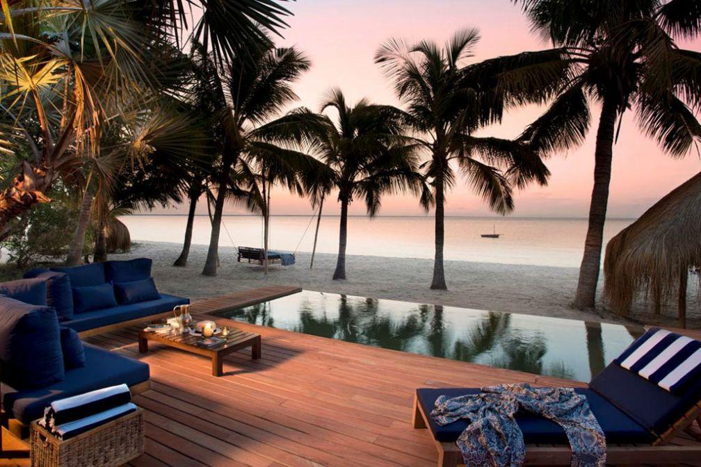 Plage paradisiaque du &Beyond Benguerra Island, nouvelle adresse de luxe ouverte en 2015 au Mozambique © &Beyond