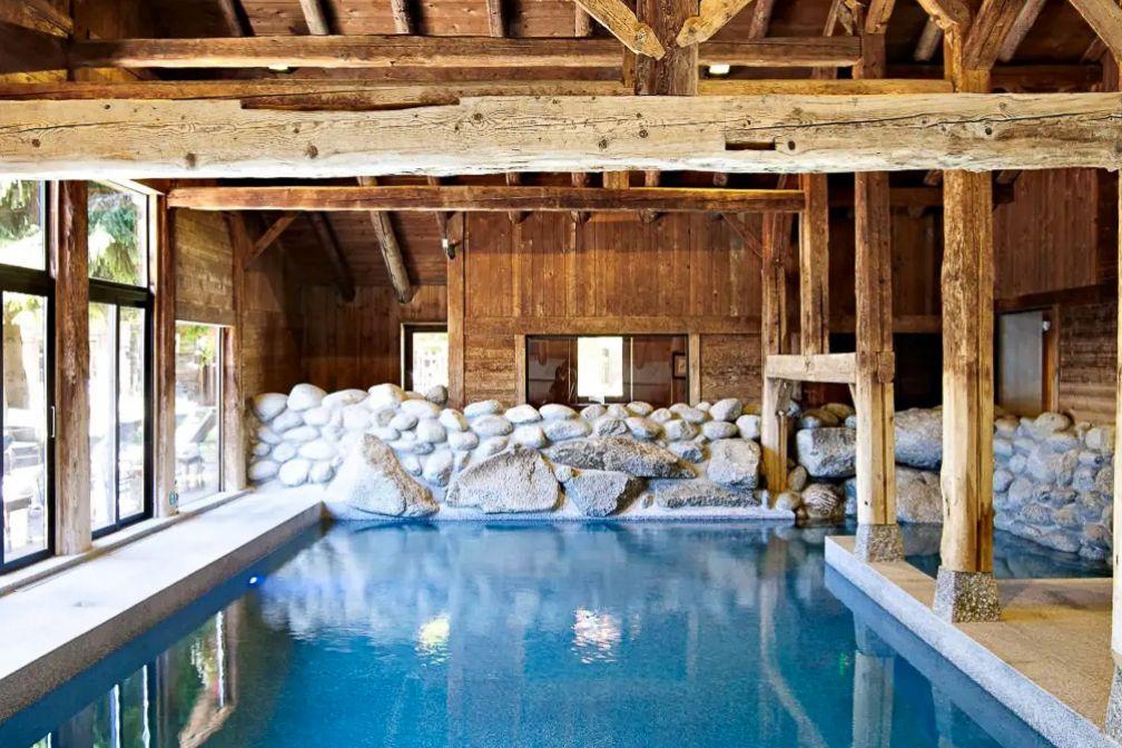 La piscine du spa Pure Altitude © Les Fermes de Marie / L. Di Orio, MPM, T. Shu et DR