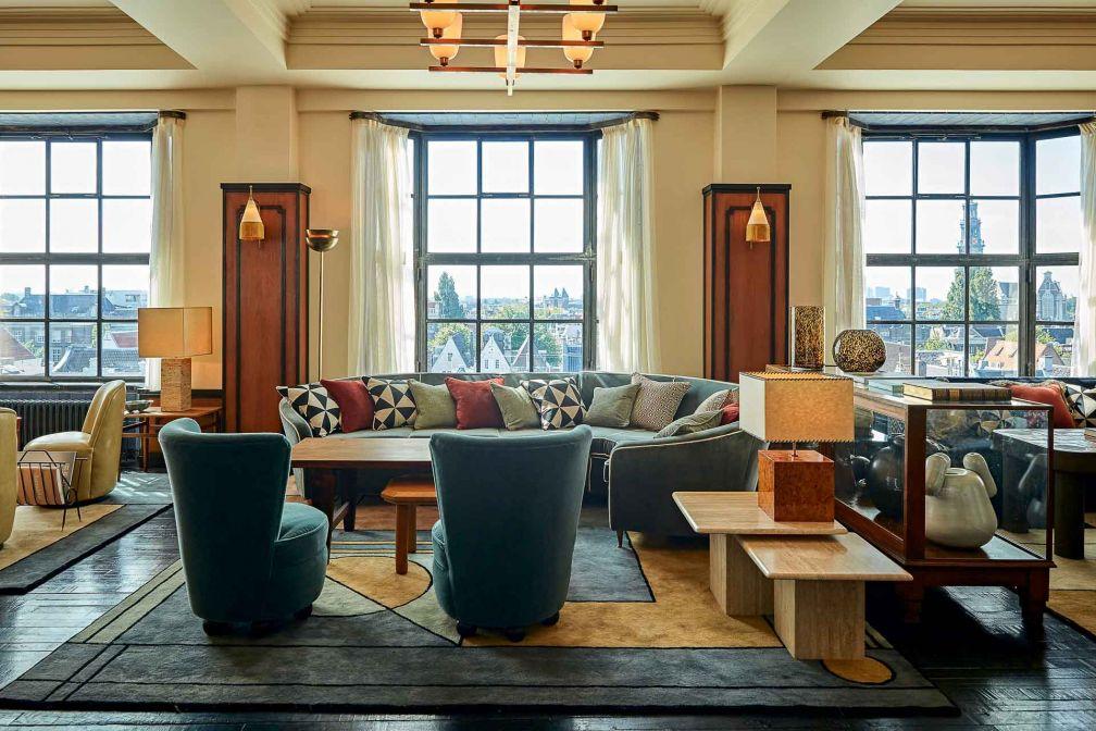 Au 5ème étage de la Soho House Amsterdam, le Club Floor est réservé aux membres où ils peuvent travailler, se retrouver ou se relaxer © DR