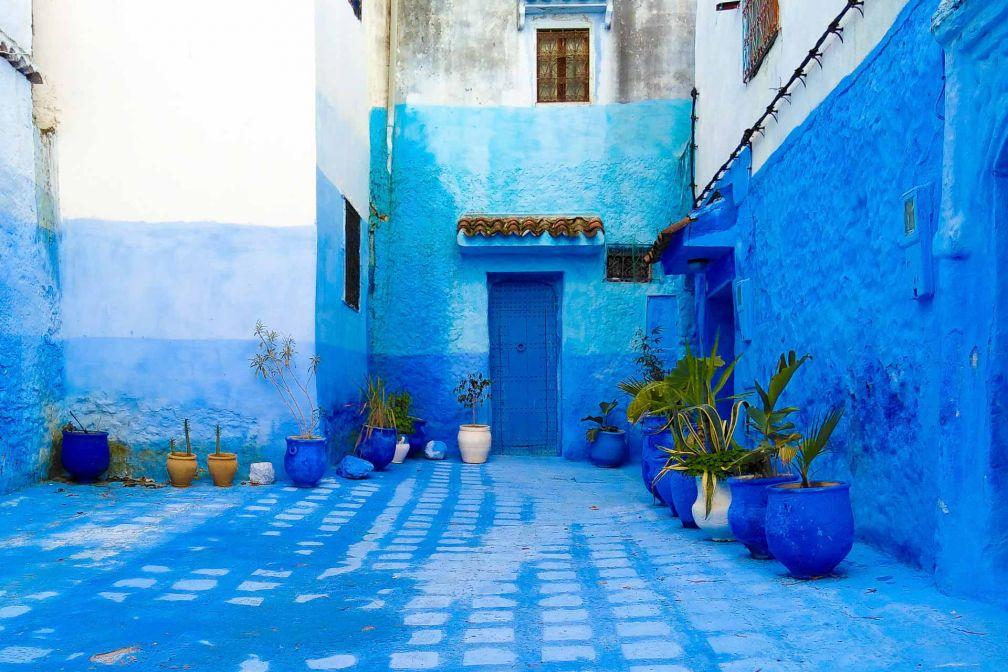 Chefchaouen, surnommée « la ville bleue », est l'une des destinations les plus pittoresques du Maroc © Alix Laplanche