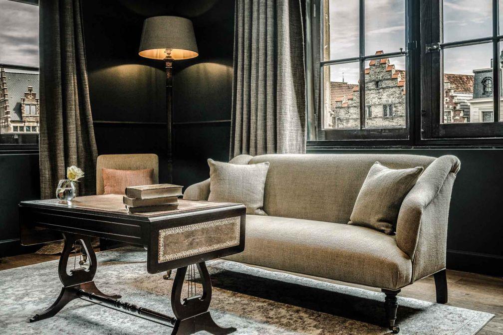 À l'intérieur d'une suite du 1898 The Post, la nouvelle adresse la plus prestigieuse de Gand © Zannier Hotels