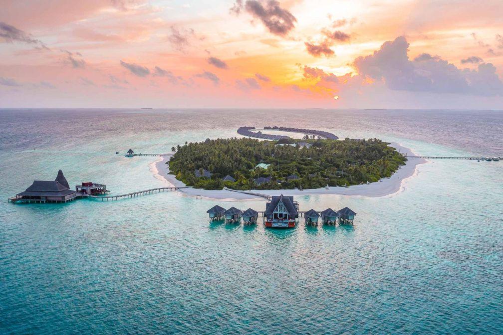 Anantara Kihavah Maldives Villas - Vue aérienne du resort © DR