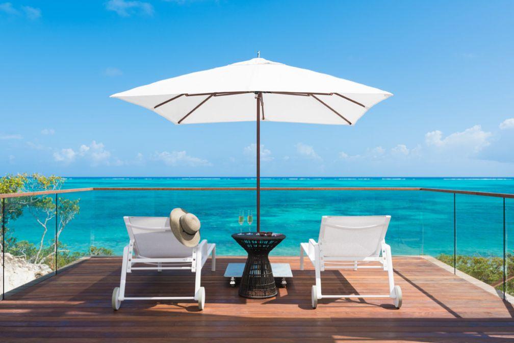 Villa avec vue à Beach Enclave North Shore, dans les îles de Turks-et-Caïcos dans les Caraïbes © Beach Enclave