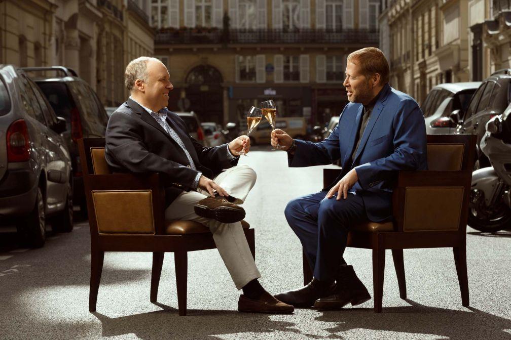 Alain Solivérès et David Kinch, une rencontre au sommet dans l'enceinte prestigieuse du Taillevent © David Morganti