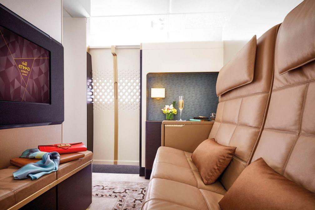 À l'intérieur de The Residence, la cabine ultra luxe imaginée par Etihad Airways à bord de ses A380 © Etihad