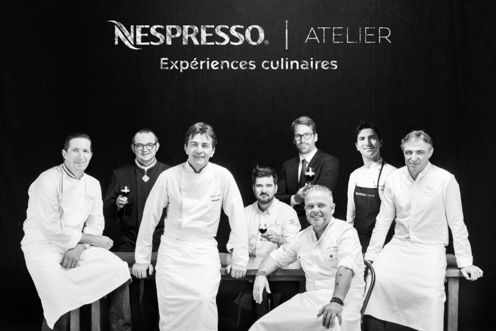 L'affiche de l'Atelier Nespresso à Lyon en marge du Sirha 2017 © Emmanuel Nguyen Ngoc