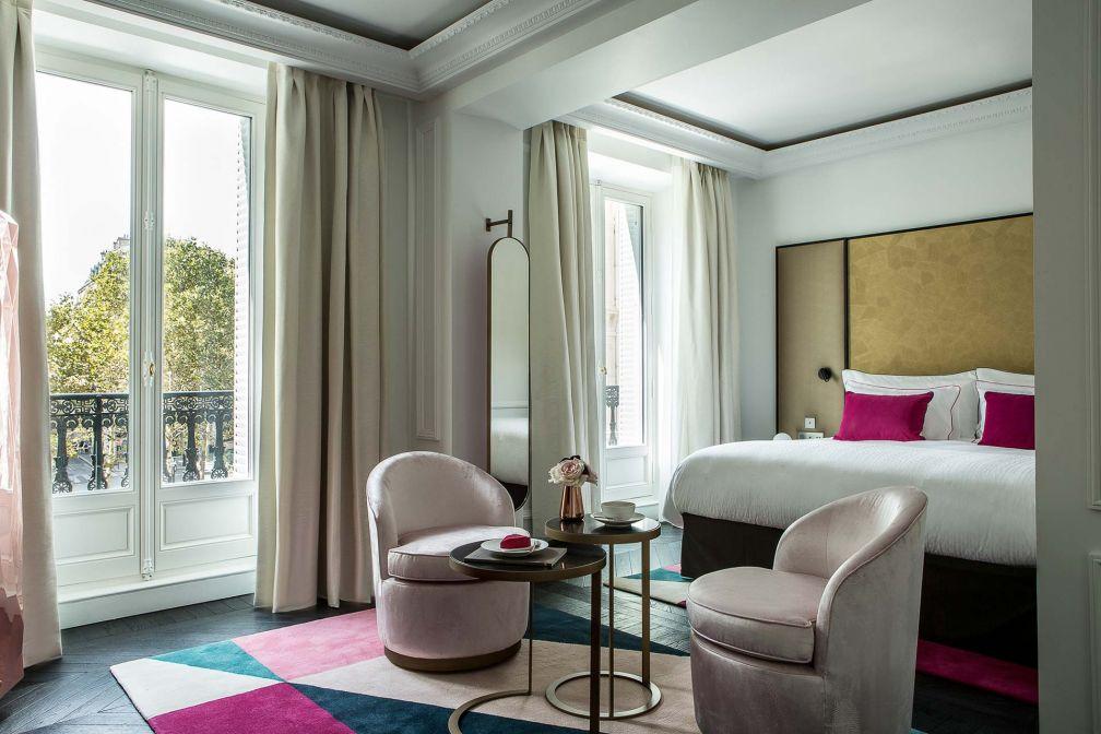 À l'intérieur d'une Junior Suite (la 301) du nouvellement ouvert Hôtel Fauchon © DR