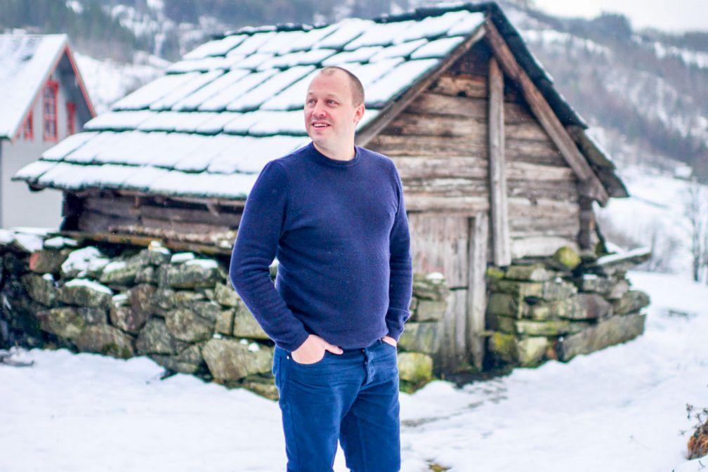 Le chef Christopher Haatuft, dans les environ de Bergen, pendant l'hiver © Bonjwing Lee