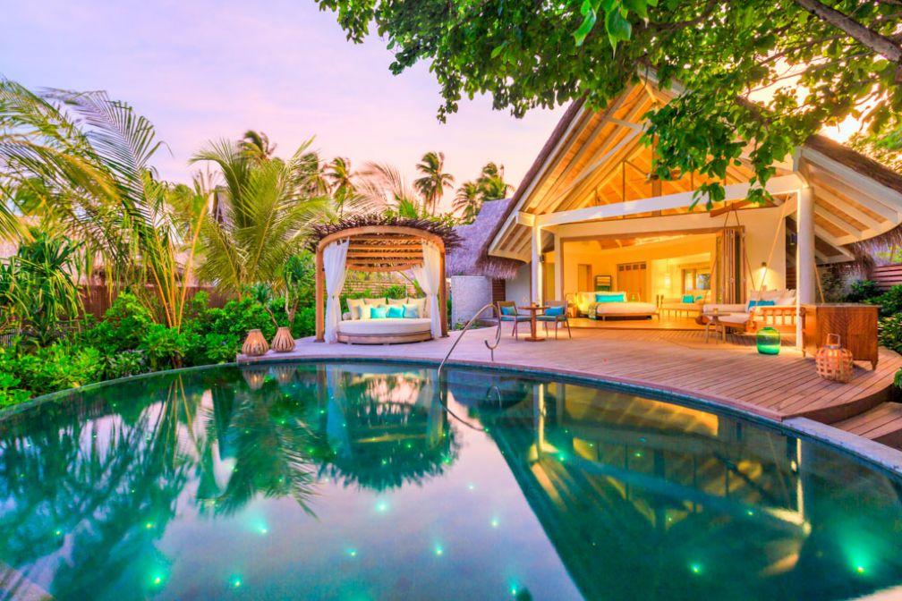 Les 50 villas du boutique-resort Milaidhoo disposent de piscines privées © Milaidhoo