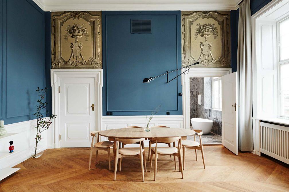 Splendide décor contemporain à l'intérieur d'une suite du Nobis Hotel Copenhagen, le nouveau grand hôtel design de la ville © Nobis Hotels