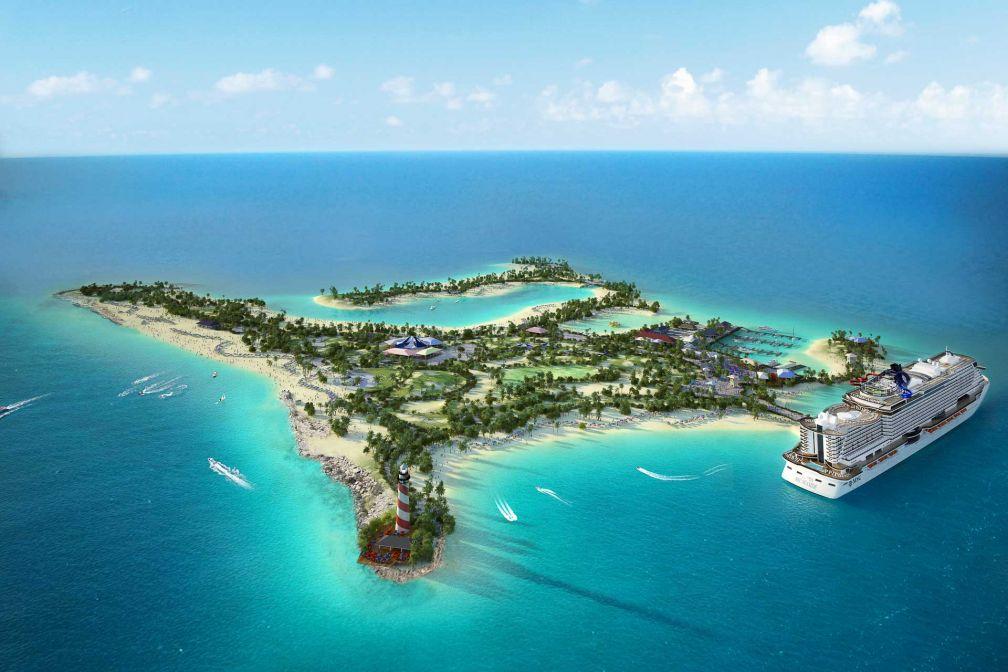 Aperçu de ce à quoi ressembla la Réserve Marine MSC Ocean Cay une fois ses travaux d'aménagement achevés © DR
