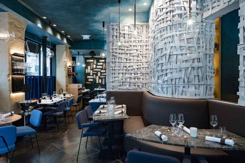 L'intérieur très graphique du restaurant Substance, au 18 rue de Chaillot (Paris 16) © DR