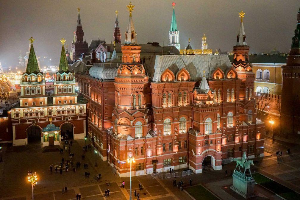 Moscou : le Musée historique d'État et la Place Rouge vus depuis une suite du Four Seasons Hotel Moscow © YONDER.fr