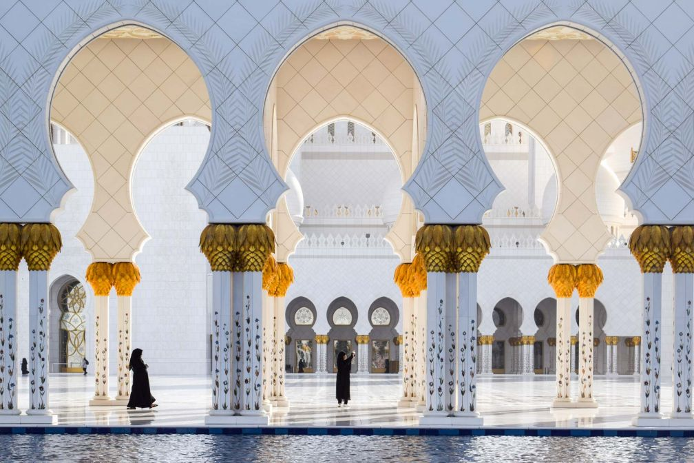 Les splendeurs de la Mosquée Sheikh Zayed, un monument qui mérite à lui seul de faire escale à Abu Dhabi © YONDER.fr
