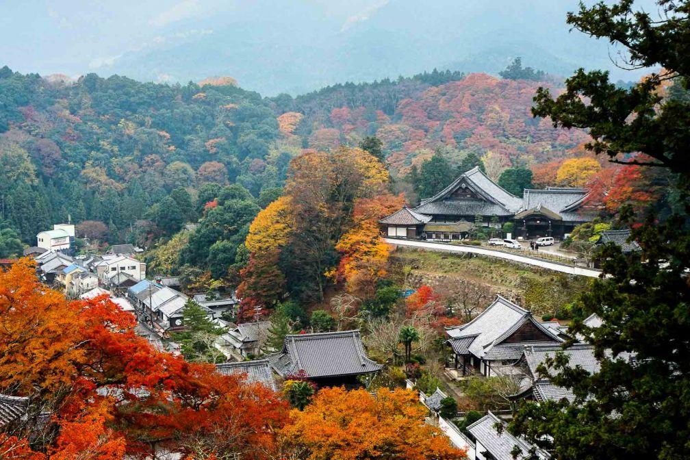 Le temple Hase-dera, près de Sakurai (1 heure au sud de Nara), est un must de toute visite de la préfecture © YONDER.fr