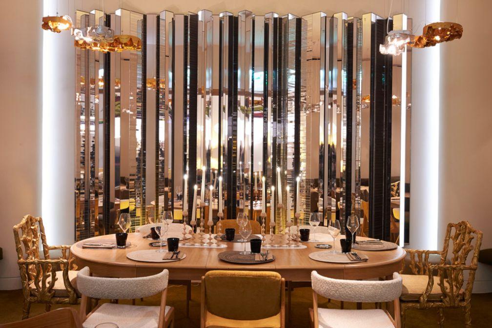 À l'intérieur de Nubé, le restaurant de l'Hôtel Marignan désormais piloté par le jeune chef franco-colombien Juan Arbelaez © François Reinhart