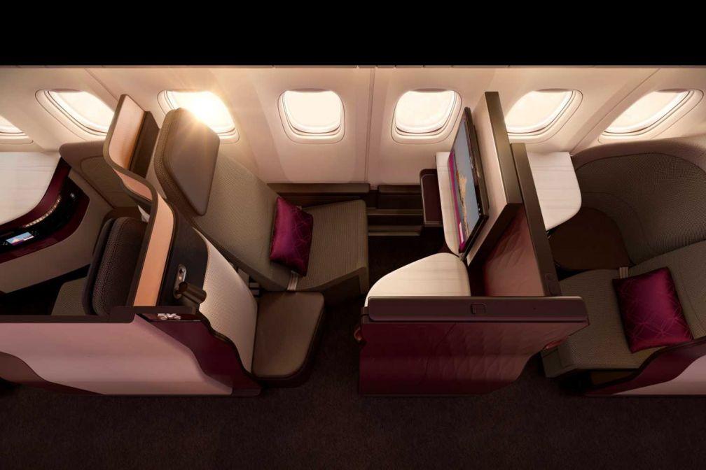 Le siège QSuite de la nouvelle Classe Affaires de Qatar Airways, côté hublot © DR