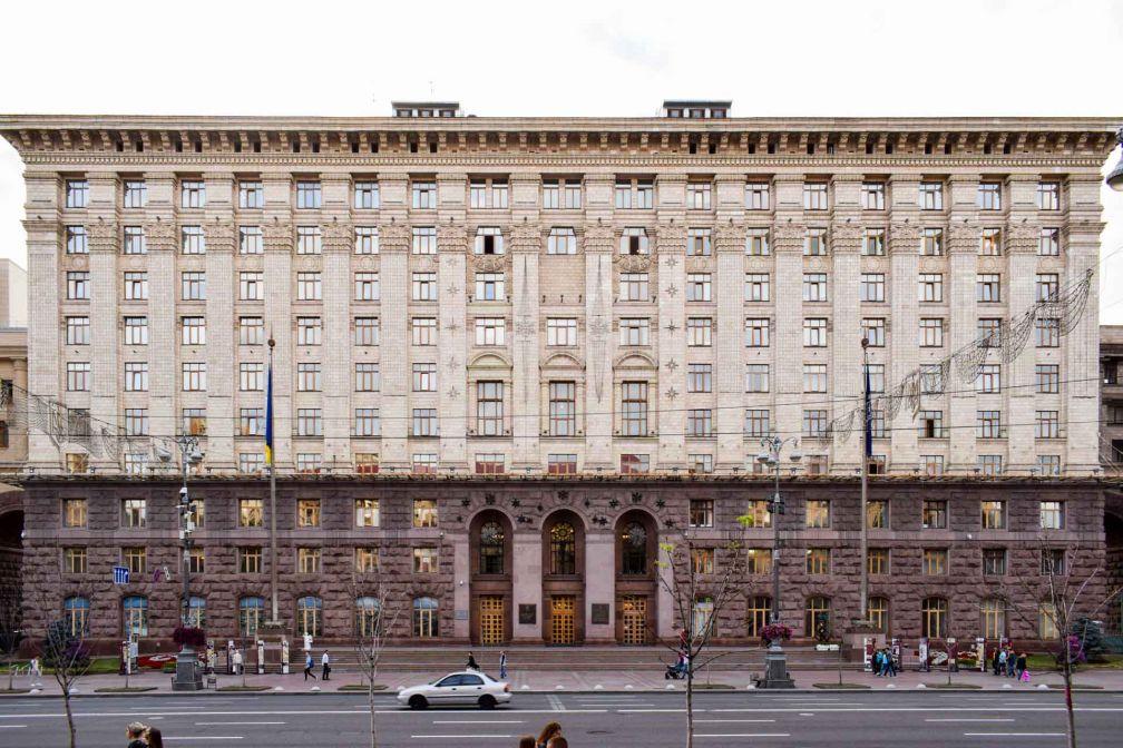 Architecture soviétique sur Krechtchatyk, les « Champs Elysées de Kiev » © YONDER.fr