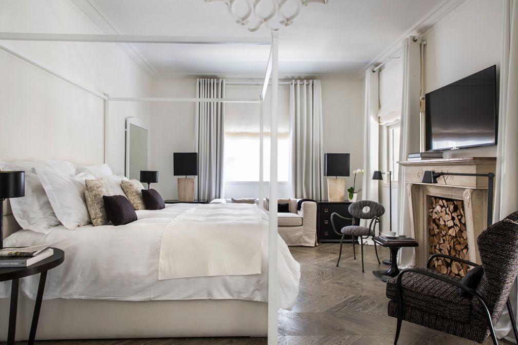 À l'intérieur de l'une des 2 chambres de type Loft au White Villa, la nouvelle adresse à connaître à Tel Aviv ©  White Villa