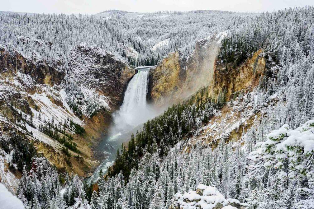 Le Grand Canyon de Yellowstone sous la neige, le 19 septembre dernier © YONDER.fr