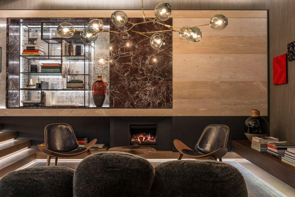 Décor ultra chic signé de l'architecte Marco Costanzi dans le boutique-hôtel de luxe signé Fendi à Rome © FENDI