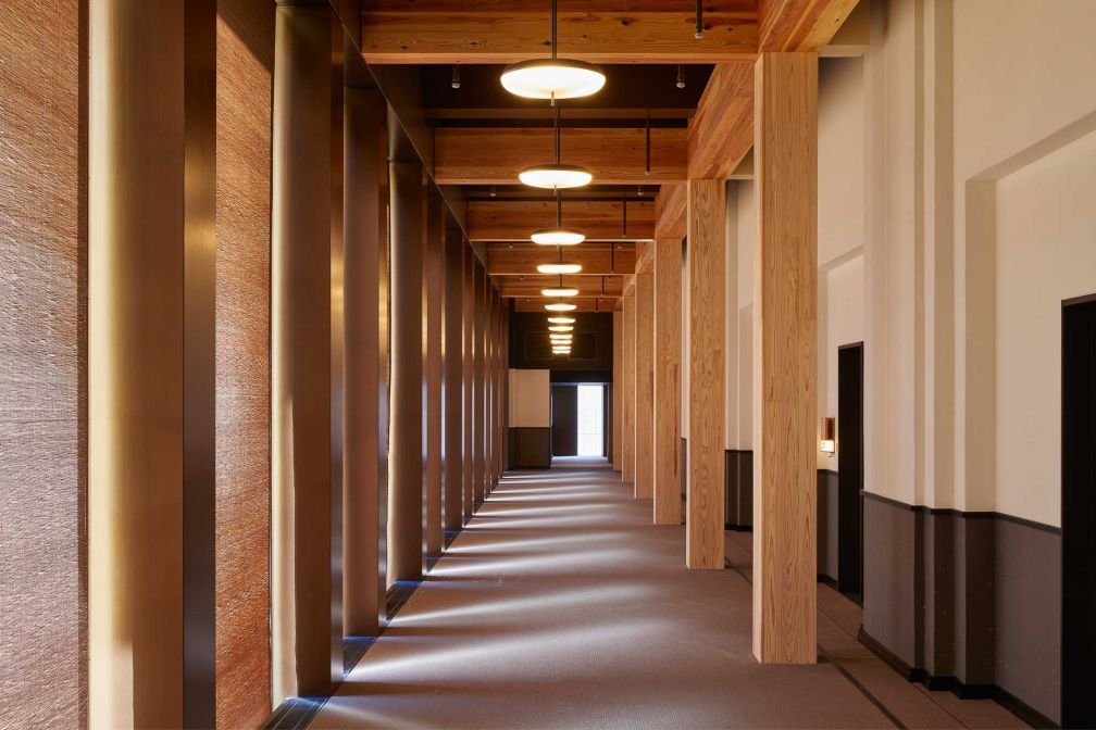 Ace Hotel Kyoto : dans les couloirs de l'hôtel © Yoshihiro Makino