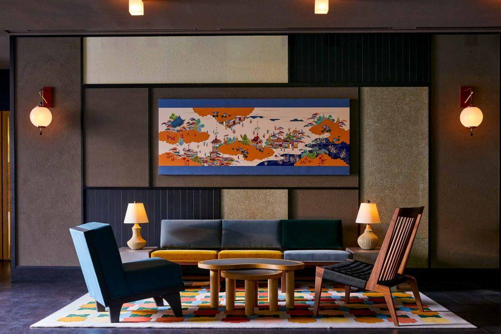 Les intérieurs du Ace Hotel Kyoto sont signés par l'architecte Kengo Kuma et le studio Commune Design © Yoshihiro Makino