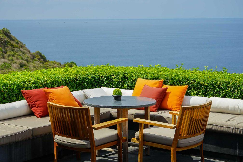 Depuis le Pavillon Central d'Amanoi, les vues sur la mer sont spectaculaires © YONDER.fr