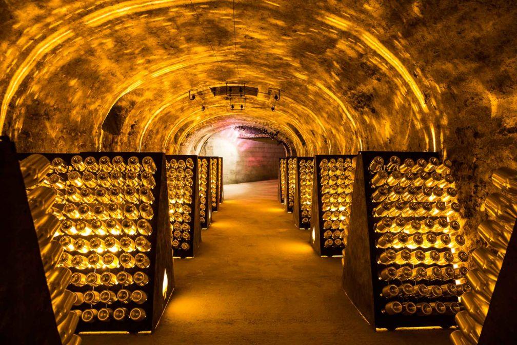 Dans les caves d'Armand de Brignac, à Chigny-les-Roses en Champagne © DR