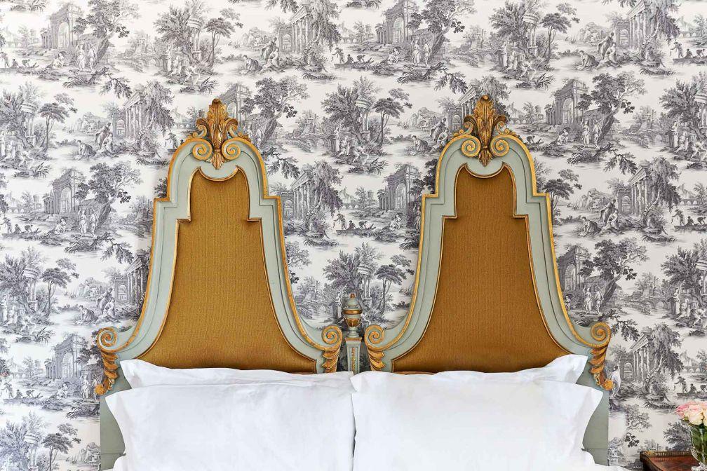 Détails de décoration dans la chambre 17 de l'Hôtel Château du Grand-Lucé © Puxan Photography