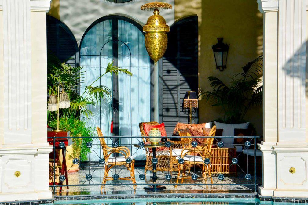 L'hôtel 5-étoiles se distingue par son décor fastueux digne... d'un palais ! © Emmanuel Laveran